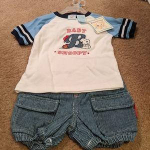 Baby Snoopy short set.